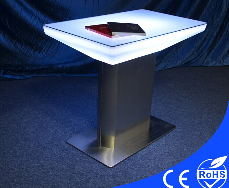 LED Shining Oblong Table Restaurant Table Table Are High Foot - 7 foot stainless steel table